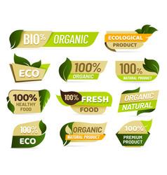 vegan emblem fresh nature product badge healthy vector image