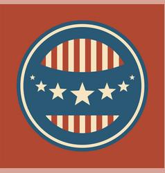 vintage united states emblem vector image