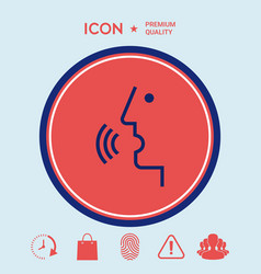 Voice control person talking - icon vector