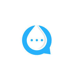 water chat logo icon design vector image