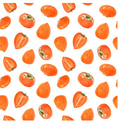 watercolor persimmon pattern vector image