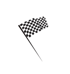 Waving racing finish flag icon vector image