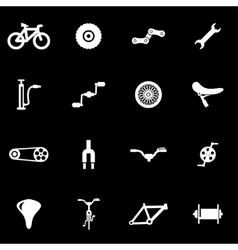 white bicycle icon set vector image