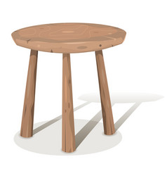 Wood stool vector
