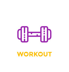 Workout fitness icon on white vector