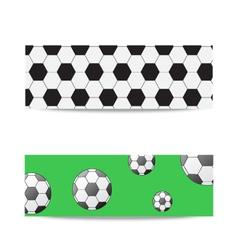 Banners on the football theme vector image
