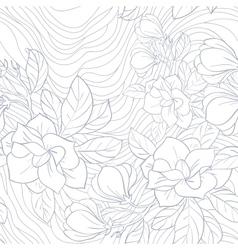 Jasmine floral seamless pattern vector image