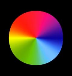 rainbow wheel vector image vector image