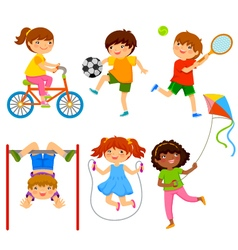 active kids vector image vector image