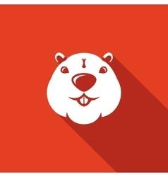 Beaver head icon vector image