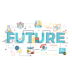 future word lettering vector image