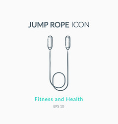 jump rope icon on white background vector image