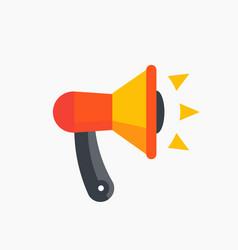 loudspeaker megaphone icon flat style vector image