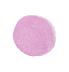 Realistic pink spot of watercolor paint vector