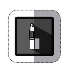 symbol lipstick makeup icon vector image