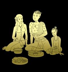 Thai art pattern vector image