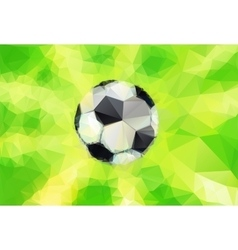 Top view of soccer ball vector image