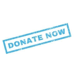 Donate Now Rubber Stamp vector image vector image