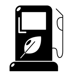 eco gas station icon simple style vector image