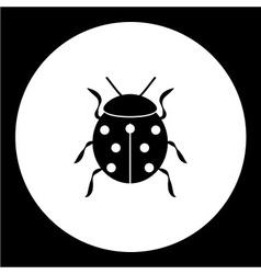 ladybug animal symbol simple black icon eps10 vector image vector image