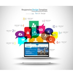 Modern Cloud Globals Services concept background vector image vector image