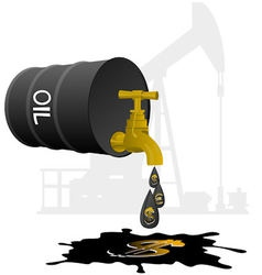 Oil business vector image