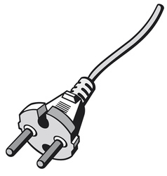 Plug cable vector image vector image