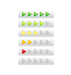 rating from color triangles vector image