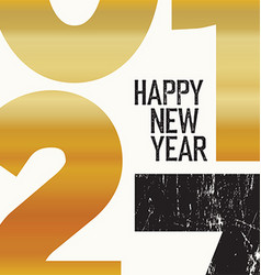 2017 Happy New Year Card Gold vector image