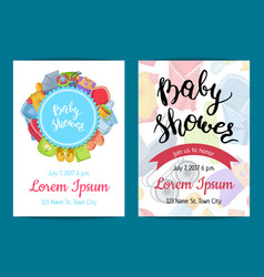 baby shower invitation card templates vector image