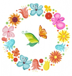 flower boarder vector image vector image