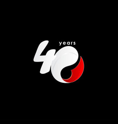 40 years anniversary celebration number red vector