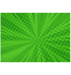 abstract green striped retro comic background vector image