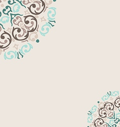 Abstract turquoise frame border corner vector