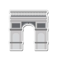 arc de triomphe icon vector image