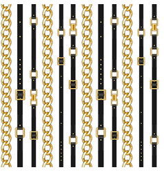 belts and chain isolated vector image