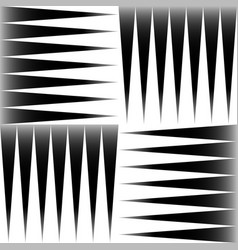 Black and white pattern of edgy pointed shapes vector