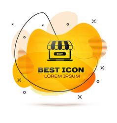 black online shopping concept buy on screen vector image