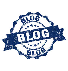 Blog stamp sign seal vector