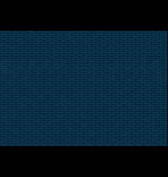 blue brick wall texture vector image