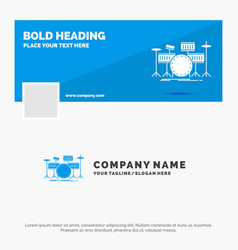blue business logo template for drum drums vector image