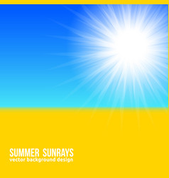 blurred yellow field and blue sky with summer vector image