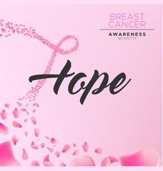 Breast cancer awareness hope ribbon background vector