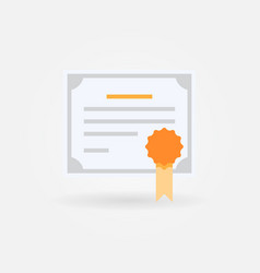 Certificate or diploma flat concept icon vector