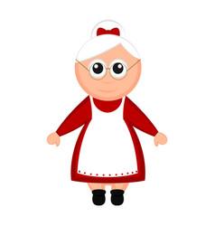Christmas mrs claus cartoon character vector