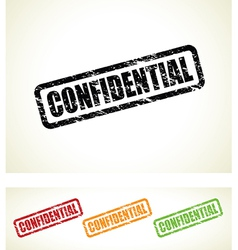 confidential stamps vector image vector image