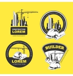 Construction color Emblems vector image