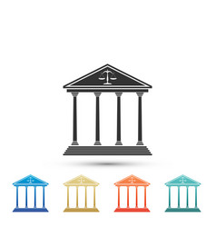 Courthouse icon isolated on white background vector