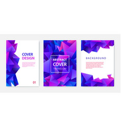 covers templates set with graphic geometric vector image