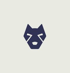 creative dog face pet icon logo design vector image